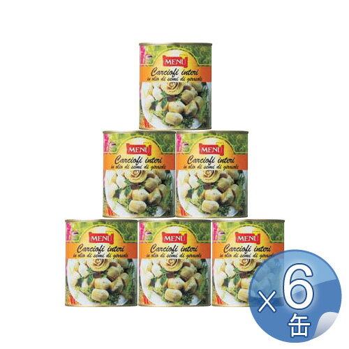 【箱入りセットでお買い得】Menu/メニュー社 カルチョーフィの芯・オイル漬け 780g<12缶セット>:キッチンブランチ