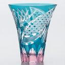 彩花切子 HG230-21GR タンブラー ( 緑 ) 300ml 《 佐々木ガラス 切子グラス 硝子 マイグラス 贈答品 酒器 ハンドメイド 食器 》