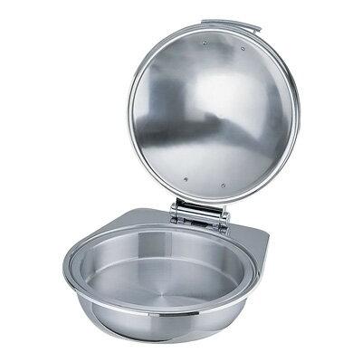 KINGO 窓なしカバー式 丸 チェーフィングデッシュ A6711G・ステンレス中皿付 425×470×H190mm:キッチンブランチ