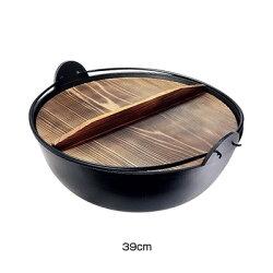 五進アルミジャンボ田舎鍋(内面シルクウェア加工)39cmA-34(キッチンブランチ)