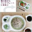 ておこし流水仕切りトレー(スノコ付) スノコをとればランチプレートにも 日本製/萬古焼/麺皿/そば/冷麺皿 業務用食器