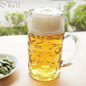 サイズもビック涼感もビック♪ビックなビールジョッキ(1000ml)ガラス食器/イタリア製/Borgono...