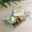 手作りビードロガラスプレート(長方形) モザイク 25.8×16.5cmひんやり冷やしそうめんプレート♪ ..- 業務用食器