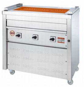 【送料無料】新品!ヒゴグリラー 万能型タイプ 床置型 3P-221W 【電気グリラー/床置型/焼物】