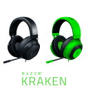 ●気になる商品●合わせて買いたい商品 RAZER KRAKEN ゲーミングヘッドセット■ アイコニックなゲーミングヘッドセットの進化Razer Kraken はその誕生からゲーミングコミュニティ内で熱狂的に支持されるヘッドセットとして高い評価を得てきました。そして、数多くのゲームイベント、コンベンション、トーナメントに欠かせない主要アイテムとなっています。この度、この人気アイテムの機能がさらに改善されました。音質だけでなく、快適さも向上したため、ヘッドセットを装着したまま一日中ゲームが楽しめます。これが新しい Razer Kraken です。■ 厚みを増したヘッドバンドのパッドヘッドバンドのパッドを改善し、さらに厚く仕上げることにより、頭部にかかる圧力を軽減したため、長時間快適に使用できます。Razer Kraken のボーキサイトアルミ製フレームは軽量かつ柔軟性があり、非常に優れた耐久性を備えています。■ クリアで強力なサウンドクリアで深みのある、パンチの効いた低音でワイドなサウンドスケープを実現。Razer Kraken でのゲームプレイ時には、背後に忍び寄るひっそりとした足音から身体を吹き飛ばすような爆発音まで、あらゆる音のディテールが体感できます。■ 何時間でも快適にプレイ新しいレベルの快適さを実現するため、冷却ジェル注入のイヤークッションを加え、不快な蓄熱を抑えています。柔らかい布とレザーレットの組み合わせがソフトさと遮音性をもたらし、長時間のプレイが楽しめます。1. 冷却ジェルレイヤー白熱したゲームセッション時の熱の蓄積を抑えます2. 奥に隠れたアイウェアチャンネル適度な圧着により眼鏡をかけていても快適な使用感が得られます3. 形状記憶フォームユーザーごとに異なる頭の形に快適にフィット4. 熱伝導ファブリック急速な汗の蒸発により熱を伝導します■ 改善されたカーディオイドマイクRazer Kraken のマイクはカーディオイド集音パターンを使用しているため、不要な環境ノイズなくユーザーの声だけをとらえます。マイクの横や後ろからの騒音は遮断され、チームメイトにはあなたの話す声のみがはっきりと伝えられます。 ■ プラットフォームを超えた互換性Razer Kraken は、3.5mm ヘッドフォン端子を備えた PC、Mac、Xbox One、PS4、Nintendo Switch、モバイルデバイスに対応しています。※ Xbox One ステレオアダプター(別売)が必要になる場合があります。※モニターの発色の具合によって実際のものと色が異なる場合がございます。[仕様情報]概要カスタムチューンされた 50 mm ドライバ冷却ジェル注入型クッション格納式単一指向性マイクボーキサイトアルミ製フレーム厚みを増したパッドプラットフォームを超えた互換性ヘッドフォン周波数特性 : 12 Hz 〜 28 kHzインピーダンス32 Ω @ 1 kHz感度 (@ 1kHz) : 109 dB入力電力 : 30 mW (最大)ドライバー : 50 mm、ネオジム磁性体使用イヤーカップの内径 : 54 mm x 65 mm接続方法の種類 : アナログ 3.5 mmケーブル長 : 1.3 m / 4.27 ft重量 (概算) : 322 g / 0.71 lbs楕円形イヤークッション : 冷却ジェル採用の耳全体を包み込む構造で、長時間の使用でも快適マイク周波数特性 : 100 Hz 〜 10 kHzS/N 比 : ≥ 60 dB感度 (@ 1kHz) : -45 ± 3 dB集音パターン : 単一指向性 ECM ブームマイクインラインコントロールアナログボリュームコントロールホイールマイクミュートクイック切り替えオーディオの使用オーディオの使用 : 3.5 mm オーディオジャック付きデバイスオーディオ+マイクの使用 : 3.5 mm オーディオ+マイク混合ジャック(4極ステレオミニ)付きデバイスオーディオ / マイク分配アダプター ケーブルの使用 : 3.5 mm ステレオミニの音声出力およびマイク入力端子搭載機器[保証期間]2年間 [メーカー]レーザー Razer 型番 JAN Green RZ04-02830200-R3M1 4589967501042 Black RZ04-02830100-R3M1 4589967501035 [対応] 3.5mm径のイヤホンジャック端子を備えた機器[性能] ゲーム向け[性能] ダイナミック型[性能] ボリュームコントロール[性能] 単一指向性[性能] 有線[材質] アルミニウム[材質] 合成皮革[用途] ゲーミング[色] グリーン[色] ブラック[規格] コンデンサー[規格] ダイナミック [シリーズ]s_