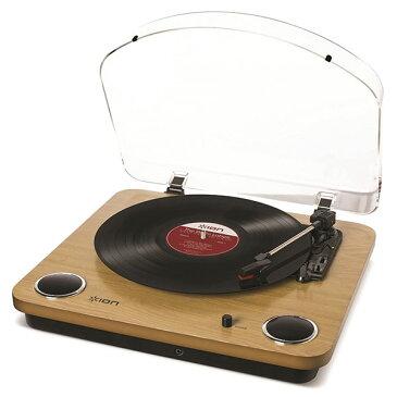 ION Audio Max LP スピーカー内蔵 レコードプレーヤー ウッド調 # IA-TTS-013 アイオンオーディオ (Apple製品関連アクセサリ) [PSR]