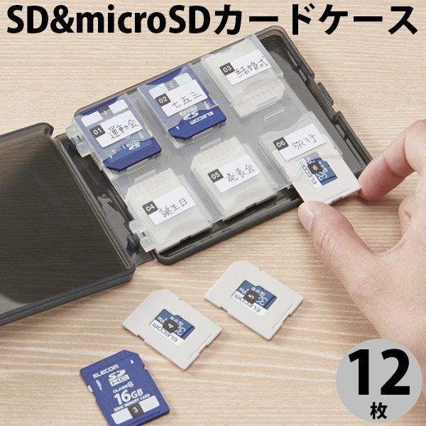 メモリーカードケース, SDメモリーカードケース  SD 12 SD microSD CMC-06NMC12 ()