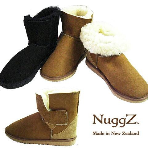 Nuggz ムートンブーツ レディース ナグズ Velcro Ankle ベルクロアンクルブーツ シープスキンブーツ