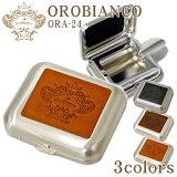Orobianco オロビアンコ 携帯灰皿 ORA-24 革貼り ポケット 灰皿 全3色 おしゃれ ギフト