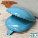 ILBussettoイル・ブセット01-004コインケース角型ライトブルースクエアタイプの革製小銭入れ