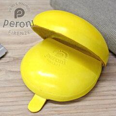 Peroniペローニコインケース594イエローイタリア製のコロンとした革製小銭入れ【素押しロゴタイプ】