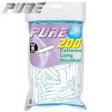手巻きタバコ PURE ピュア スリム エクストリームロング メンソール フィルター(200個入) 直径6mm 長さ30mm 手巻きたばこ用フィルター