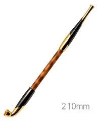 手造りきせる170浅草煙管元禄黒金色鍍金(200mm)