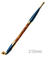 手造りきせる171浅草煙管元禄藍金色鍍金(200mm)