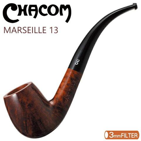CHACOM シャコムパイプ マルセイユ13 ベント 3mmフィルター対応 パイプ 喫煙具 柘製作所 42923
