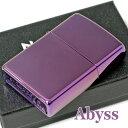 ZIPPOジッポーライター24747AbyssアビスパープルカラーPVD加工紫色ジッポーライターZippoLighterジッポ/ジッポーオイルライターzippo
