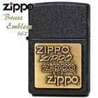 ZIPPO362BrassEmblemブラッククラックルジッポーブラスエンブレム