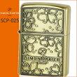 ZIPPOSCP-025サイモンカータージッポードローイングフラワーBA真鍮イブシ