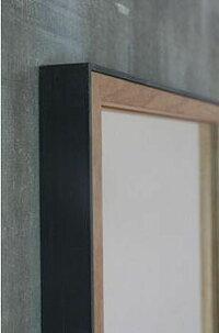 鉄枠の鏡オーク材