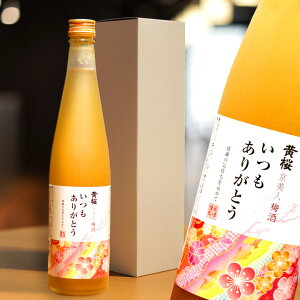 【送料無料 あす楽】黄桜 いつもありがとう梅酒 500ml 箱入り 京都でうまれたとろり梅酒 梅酒 瓶 ギフト 梅 京都...