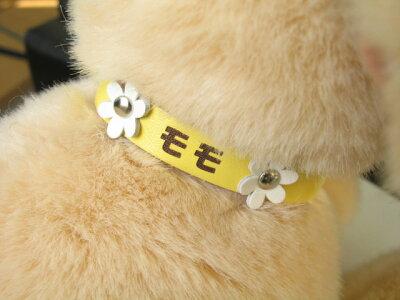 オリジナル彫刻【ペットの首輪】名前入り首輪♪小型犬・猫用のプレゼント☆動物好きの方へ贈り...