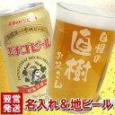 夏ギフト ビール グラス セット 名入れ 送料無料 【 てびねり ビール ジョッキ & エチゴビール