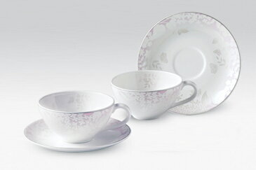 ウェディングピンクコーヒーカップセット4p