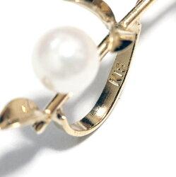 K18アコヤ本真珠ベビーパール枝花ブローチ18金あこや18k