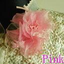 *慶事用*フラワーコサージュ(ピンク):C180-PI ひなげし風の胸飾り(ケース入り)【結婚式・披露宴・卒業式・入学式・成人式】