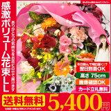 あす楽 正午まで★ 誕生日 記念日 お祝い 花 ギフト に 感激おまかせLLサイズ 花束 ブーケ 送料無料 プレゼント 用ギフトボックスでお届け