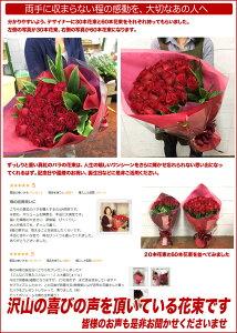 大輪の真紅のバラの花束(バラ薔薇)20本記念日還暦プロポーズフラワーギフト専用ギフトボックスにてお届けラッピング無料送料無料