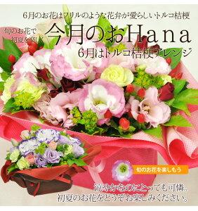 【送料無料/6月のおHana】トルコギキョウアレンジ