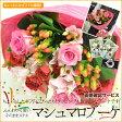 【送料無料】マシュマロブーケ(ラウンド風のふんわり可愛い花束です!)