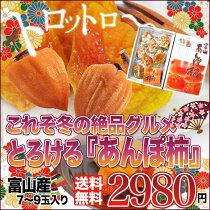 店長激オシ送料無料!!とろりとした食感と強い甘みがたまらない「あんぽ柿」