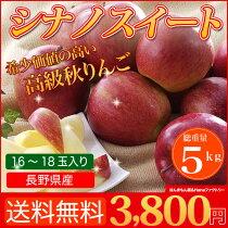 店長激オシ!!高級りんごがこの価格で!長野県産シナノスイート約5kg(16〜18玉)