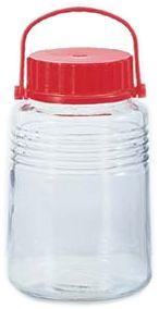 日本製の梅酒ビン(果実酒ビン)です。【日本製】 アデリア 貯蔵瓶  A型5号 4L 梅酒びん(果...