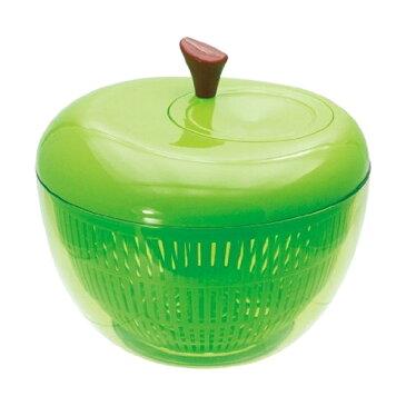 20%割引★現代百貨 野菜の水切り器 アップル サラダスピナー グリーン K333-GR