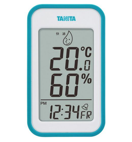 タニタ デジタル温湿度計 ブルー TT-559BL