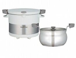 ■サーモス シャトルシェフ 保温調理鍋 3L ホワイト