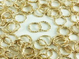 デザイン丸カン ゴールド 10mm 100個 (AP0336)