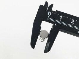 ガラスストーン台座カン付き8mmストーン用40個シルバー貼付台座(AP0692)