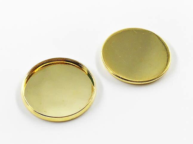 ミール皿 丸 ゴールド 20mm カン無し 20枚 (AP0788)