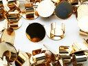 【サージカルステンレス 316L 】8mm ピアス ゴールド 平皿タイプ 100個 (50ペア) キャッチ無し 金属アレルギー対策 アクセサリーパーツ