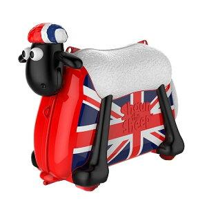 ひつじのショーン 乗って遊べる 子ども スーツケース こども用 乗用玩具 機内持ち込み可 バッグ 旅行 キッズ かばん 乗れるキャリーバッグ Shaun The Sheep Ride on Suitcase British saipo おもちゃ 玩具