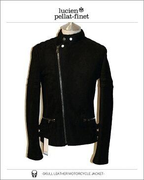 ルシアンぺラフィネ スカル モーターサイクル レザージャケット ムートン ライダースlucien pellat-finet Skull Leather MotorCycleJacket