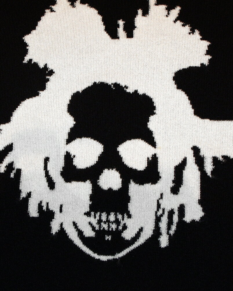 "【lucienpellat-finet""Basquiat/Skull-Cashmere/Knit""black】"