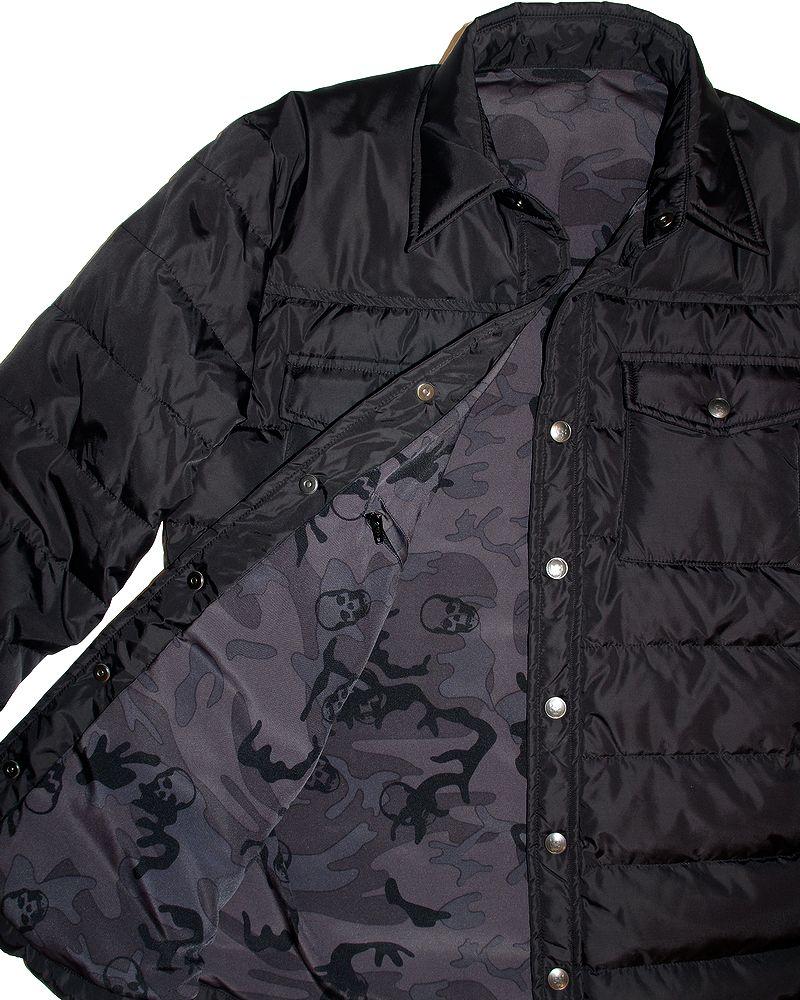 """【ルシアンペラフィネブラック.ダウンシャツジャケット】【lucienpellat-finet""""Black-ShirtDownJacket】【P15Aug15】"""