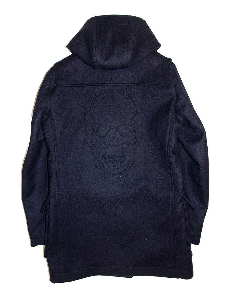 """【ルシアンペラフィネスカルダッフルコート】【lucienpellat-finet""""Skull-DuffelCoat/Navy】【P15Aug15】"""