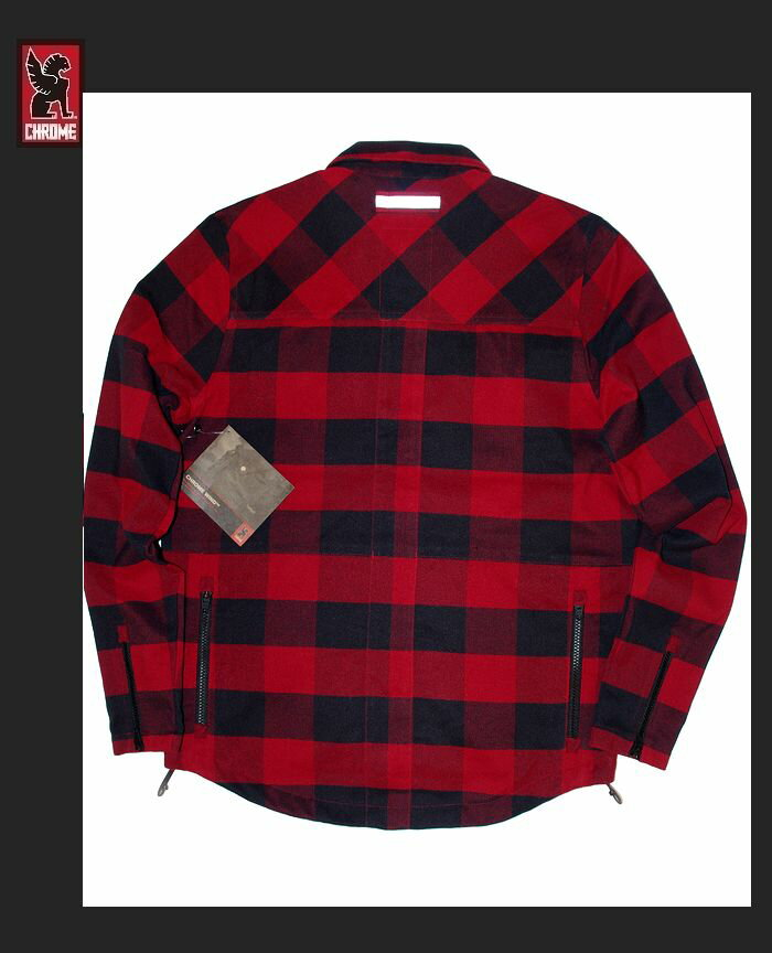 "【CHROME""IKE-WIND-SHIRT/BUFFALO-PLAID】【クローム""ワークシャツジャケット】"