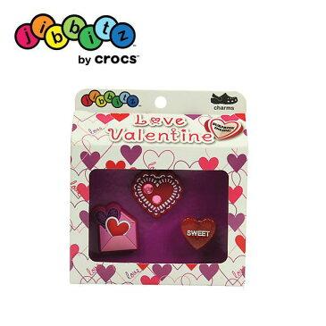 【全品P2倍】クロックス crocs ジビッツ【Valentine 3pack/バレンタイン3パック】【クロックス国内正規取り扱い】
